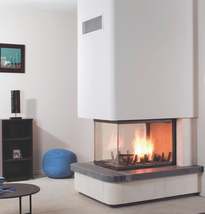 Axis EPI950 Three sided wood fireplace - Sculpt Fireplace Collection Australia & New Zealand