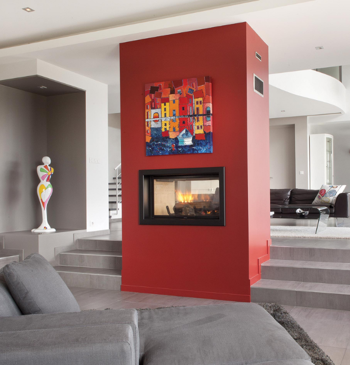 Axis H1200DS Double Sided Fireplace - Sculpt Fireplace Collection Australia & New Zealand