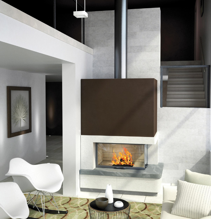 Axis H1200VLD Two sided fireplace - Sculpt Fireplace Collection Australia & New Zealand