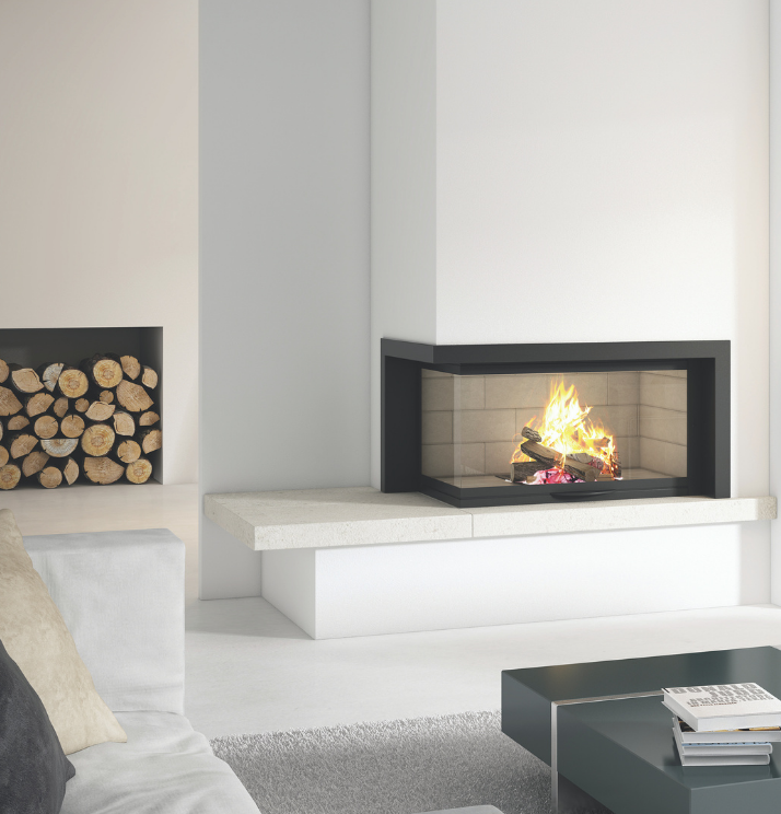 Axis H1200 VLG Two sided fireplace - Sculpt Fireplace Collection Australia & New Zealand