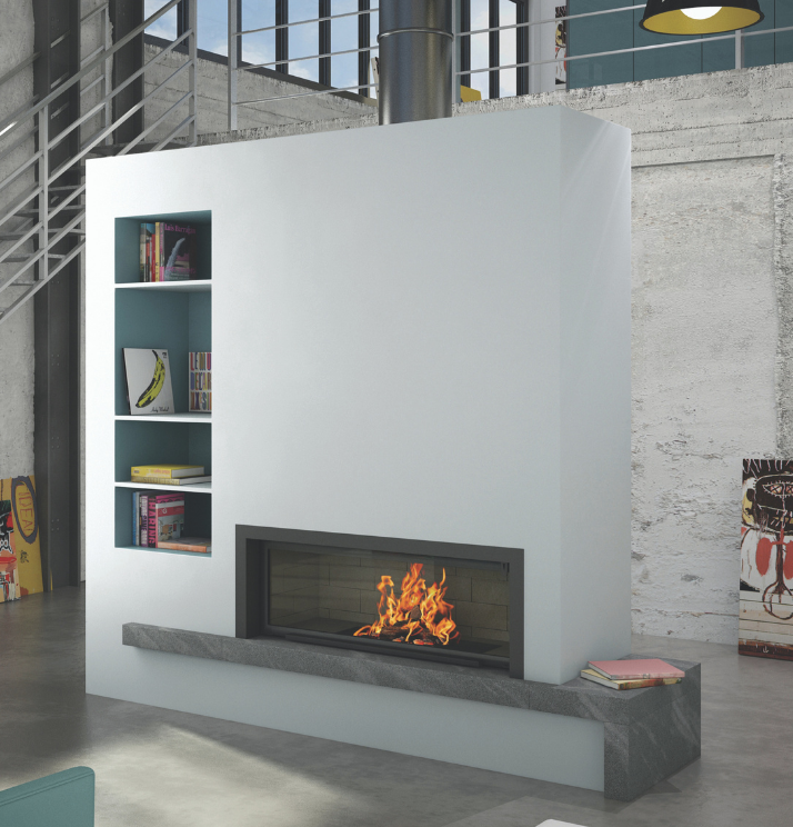Axis H1600 Contemporary inbuilt fireplace - Sculpt Fireplace Collection Australia & New Zealand