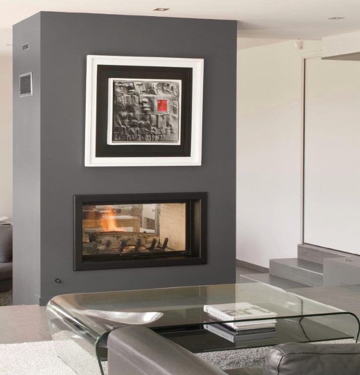 Axis H1600DS Double sided fireplace - Sculpt Fireplace Collection Australia & New Zealand