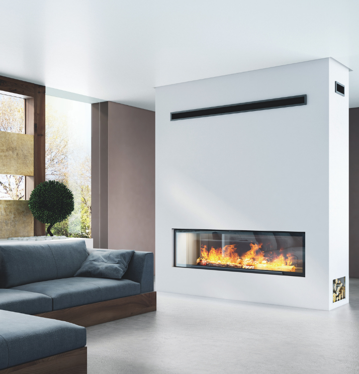 Axis H1600XXL DS Australias largest double sided fireplace - Sculpt Fireplace Collection Australia & New Zealand