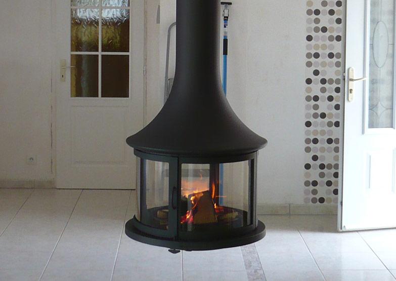 Bordelet Lea 998 Suspended Fireplace Sculpt Fireplace