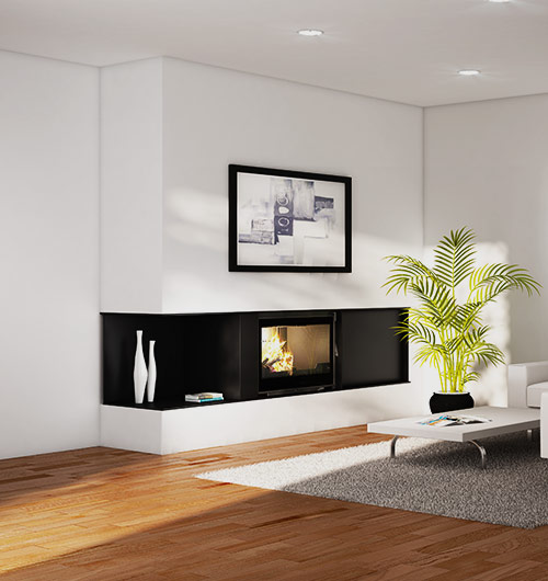 Seguin Visio 8 Plus Cheminee Fireplace - Sculpt Fireplace Collection