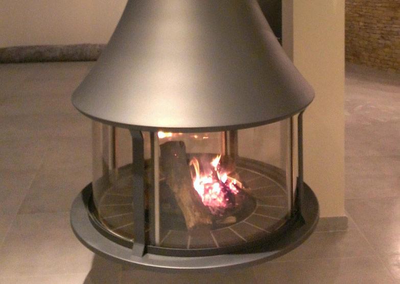 Bordelet Zelia 908 Suspended Fireplace - Sculpt Fireplace ...