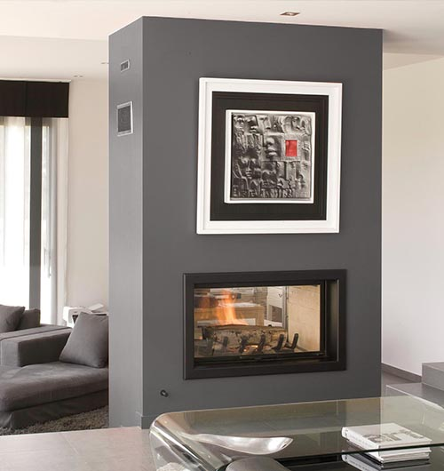 Axis H1200DS Double Sided Wood Heater - Sculpt Fireplace Collection