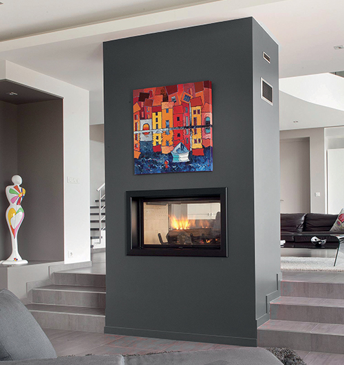 Contemporary Inbuilt Amp Wood Fireplaces Modern Suspended