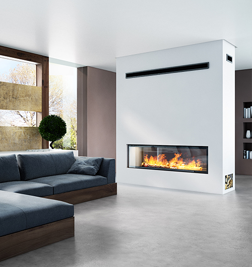 AxisH1600XXL Contemporary Wood Heater Sculpt Fireplace Collection