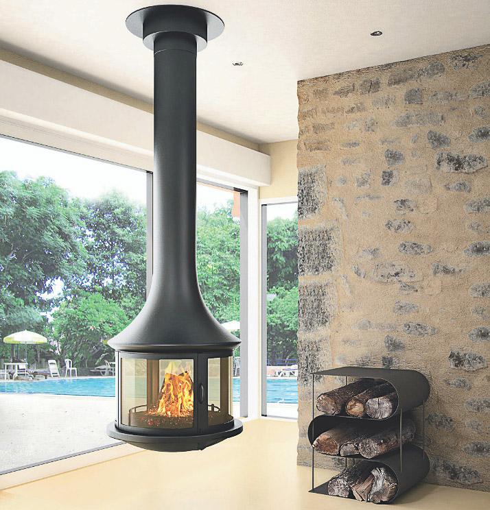 Bordelet Lea 998 Suspended wood fireplace - Sculpt Fireplace Collection Australia & New Zealand
