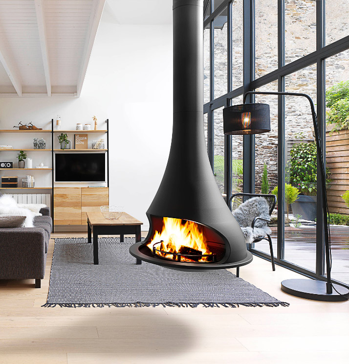 Bordelet Tatiana 997 Suspended wood fireplace - Sculpt Fireplace Collection Australia & New Zealand