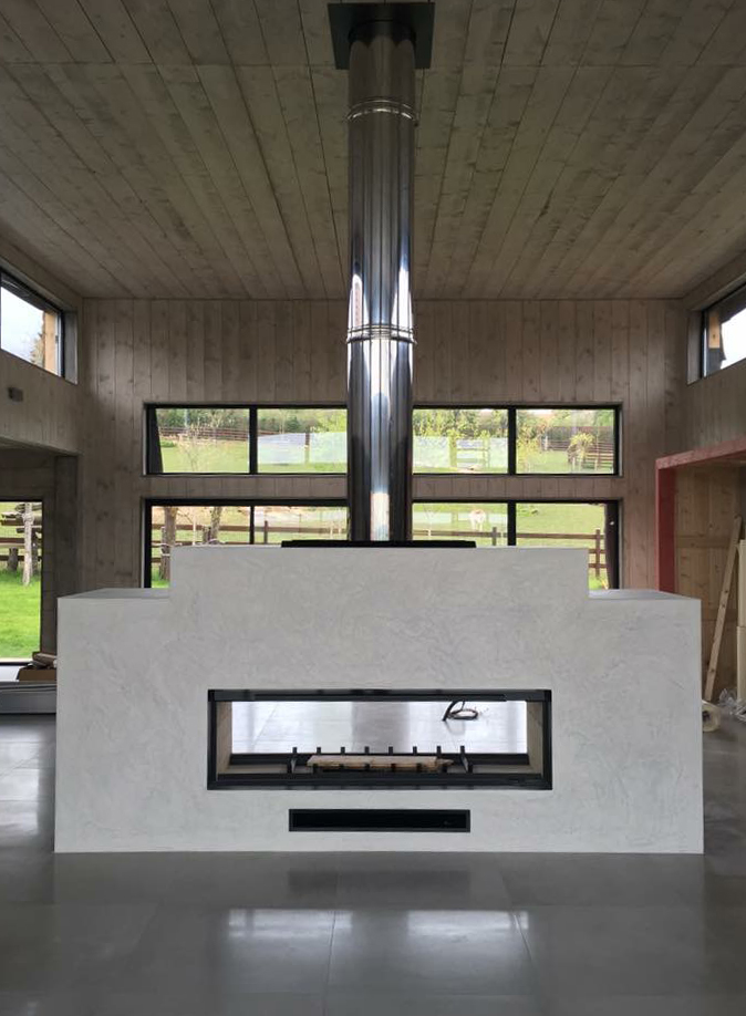 Axis H1600XXL Double Sided Fireplace - Woodpecker Heating, Cooling, Fireplaces & BBQ's