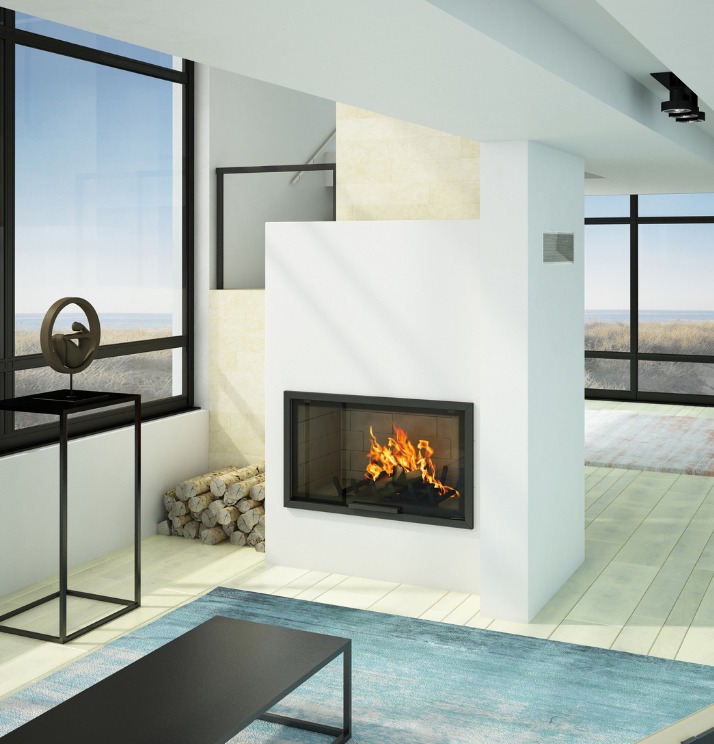 Axis H1200 Contemporary inbuilt fireplace - Sculpt Fireplace Collection Australia & New Zealand