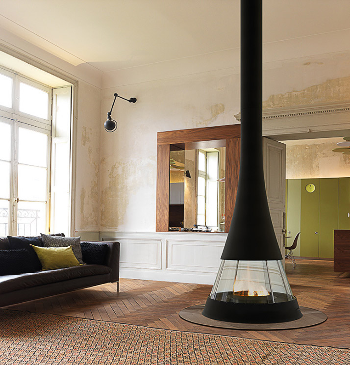 Bordelet Linea 914 Suspended wood fireplace - Sculpt Fireplace Collection Australia & New Zealand