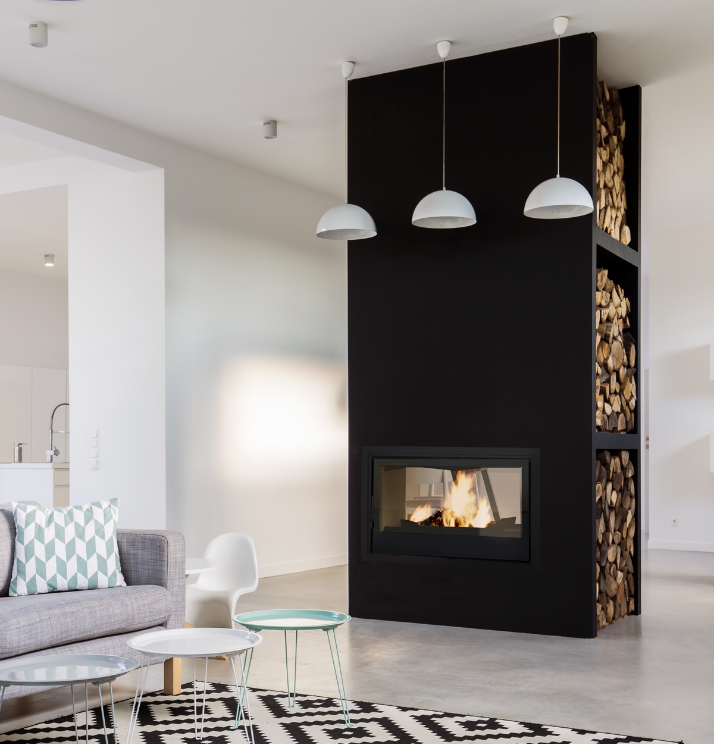 Axis I1000IB Double Sided - Sculpt Fireplace Collection Australia & New Zealand