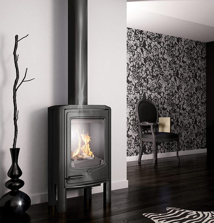 Seguin Jade Cheminee Fireplace Freestanding Pure Cast Iron Cheminee - Sculpt Fireplace Collection Australia & New Zealand