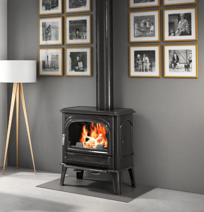 Seguin Saphir Cheminee FireplaceFreestanding Pure Cast Iron Cheminee - Sculpt Fireplace Collection Australia & New Zealand