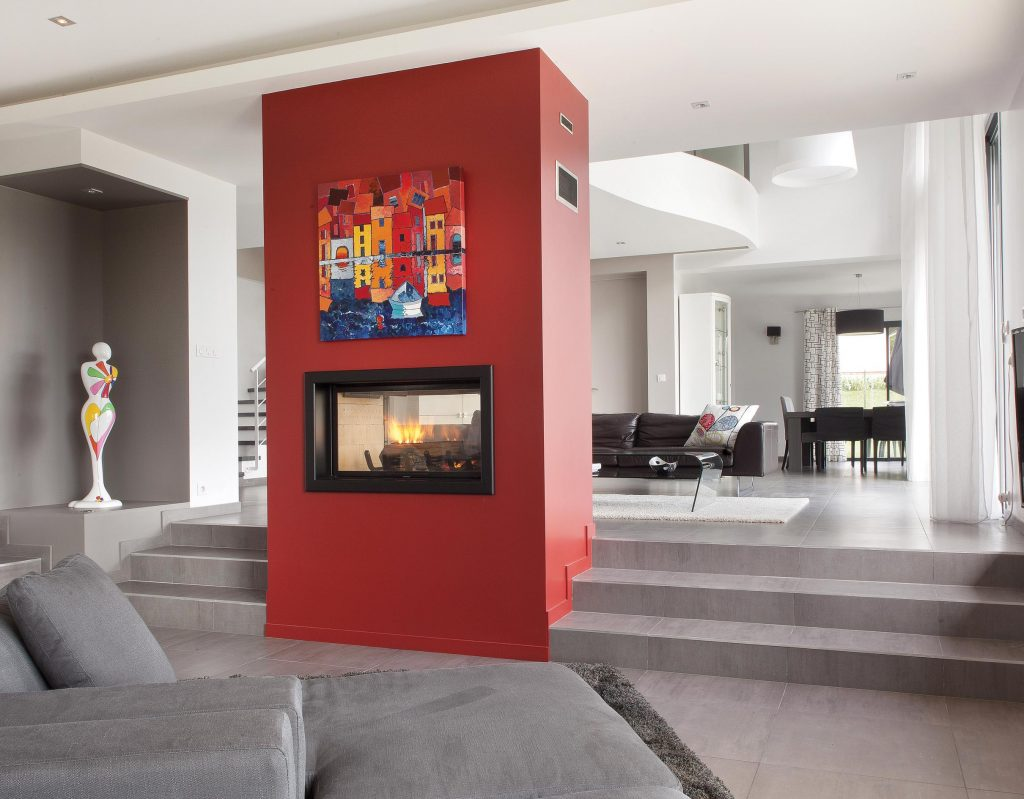Axis H1200 Double Sided Built In Fireplace - - Woodpecker Heating, Cooling, Fireplaces & BBQ's